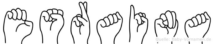 Esraina in Fingersprache für Gehörlose