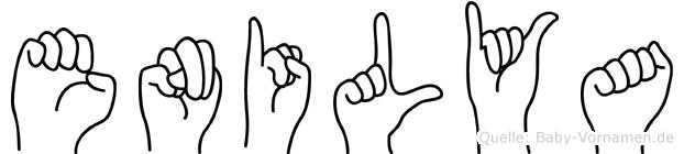 Enilya im Fingeralphabet der Deutschen Gebärdensprache