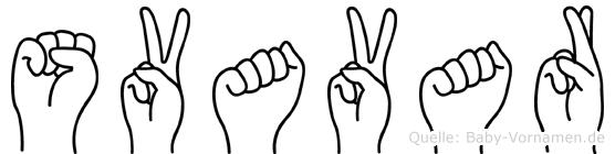 Svavar im Fingeralphabet der Deutschen Gebärdensprache