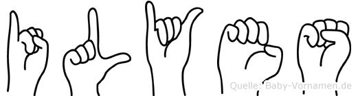 Ilyes im Fingeralphabet der Deutschen Gebärdensprache