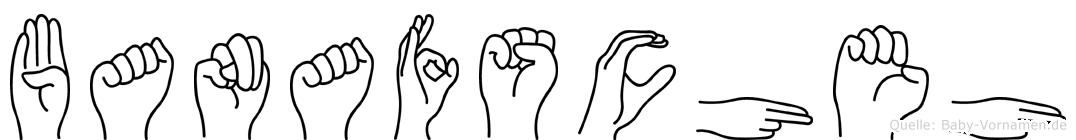 Banafscheh im Fingeralphabet der Deutschen Gebärdensprache