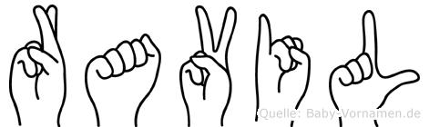 Ravil in Fingersprache für Gehörlose