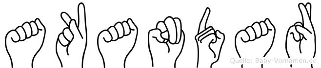 Akandar in Fingersprache für Gehörlose