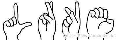 Lärke in Fingersprache für Gehörlose