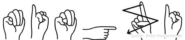 Mingzi in Fingersprache für Gehörlose