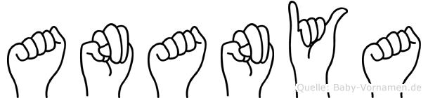 Ananya im Fingeralphabet der Deutschen Gebärdensprache