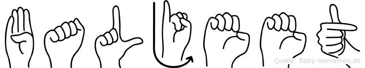 Baljeet im Fingeralphabet der Deutschen Gebärdensprache