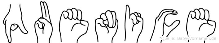 Quenice in Fingersprache für Gehörlose