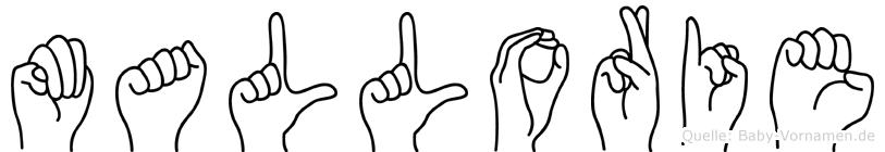 Mallorie in Fingersprache für Gehörlose