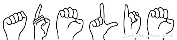 Adelie in Fingersprache für Gehörlose