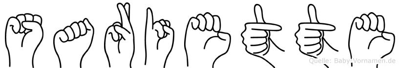 Sariette in Fingersprache für Gehörlose