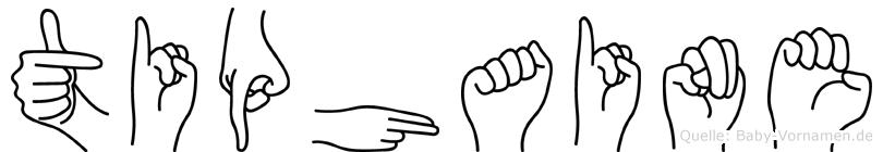 Tiphaine im Fingeralphabet der Deutschen Gebärdensprache