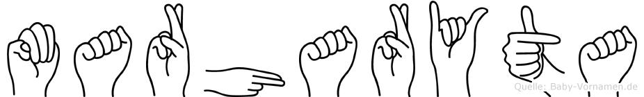 Marharyta in Fingersprache für Gehörlose