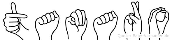 Tamaro im Fingeralphabet der Deutschen Gebärdensprache