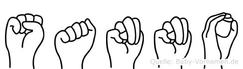 Sanno in Fingersprache für Gehörlose