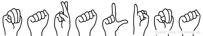Maralina im Fingeralphabet der Deutschen Gebärdensprache
