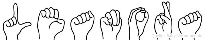 Leanora im Fingeralphabet der Deutschen Gebärdensprache