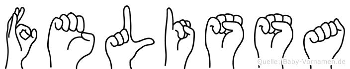 Felissa im Fingeralphabet der Deutschen Gebärdensprache