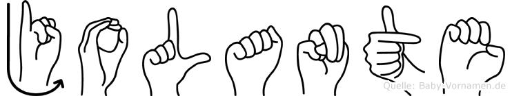 Jolante in Fingersprache für Gehörlose