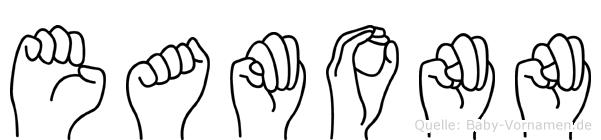 Eamonn im Fingeralphabet der Deutschen Gebärdensprache
