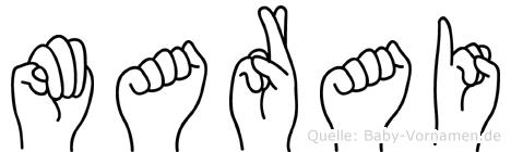 Marai in Fingersprache für Gehörlose