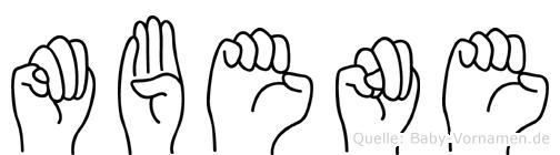 Mbene im Fingeralphabet der Deutschen Gebärdensprache
