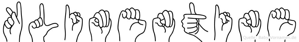 Klimentine in Fingersprache für Gehörlose