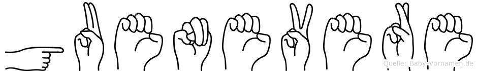 Guenevere in Fingersprache für Gehörlose