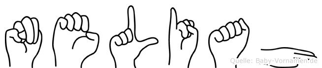 Neliah im Fingeralphabet der Deutschen Gebärdensprache