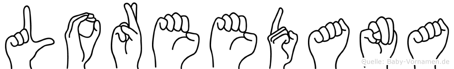 Loreedana im Fingeralphabet der Deutschen Gebärdensprache