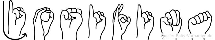 Josifina in Fingersprache für Gehörlose