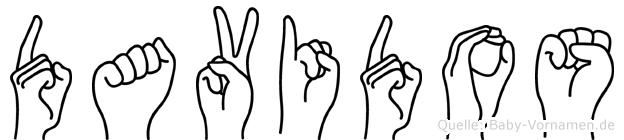 Davidos im Fingeralphabet der Deutschen Gebärdensprache