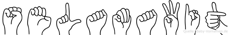 Selamawit im Fingeralphabet der Deutschen Gebärdensprache