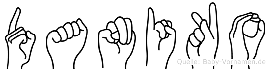 Daniko in Fingersprache für Gehörlose