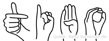 Tibo in Fingersprache für Gehörlose