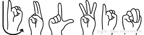 Julwin in Fingersprache für Gehörlose