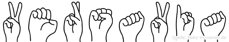 Versavia in Fingersprache für Gehörlose