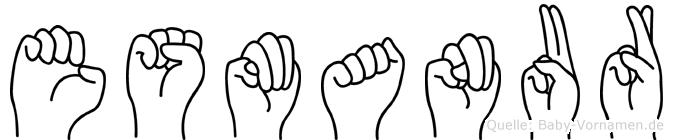 Esmanur im Fingeralphabet der Deutschen Gebärdensprache