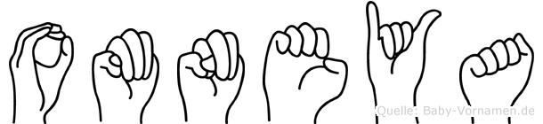 Omneya im Fingeralphabet der Deutschen Gebärdensprache