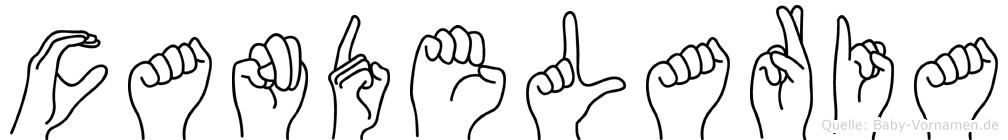 Candelaria in Fingersprache für Gehörlose