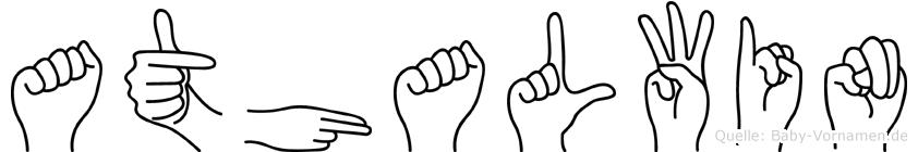 Athalwin in Fingersprache für Gehörlose