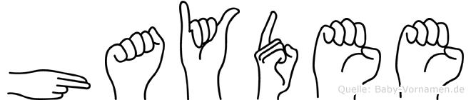 Haydee in Fingersprache für Gehörlose