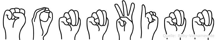 Sonnwinn im Fingeralphabet der Deutschen Gebärdensprache