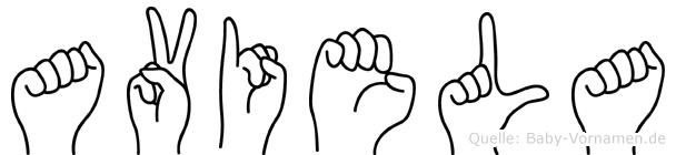 Aviela in Fingersprache für Gehörlose