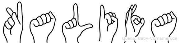 Kalifa in Fingersprache für Gehörlose