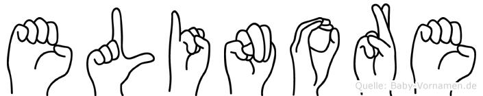 Elinore im Fingeralphabet der Deutschen Gebärdensprache