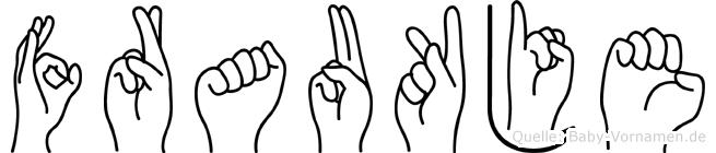 Fraukje in Fingersprache für Gehörlose
