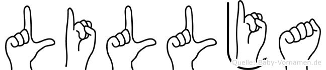 Lillja im Fingeralphabet der Deutschen Gebärdensprache