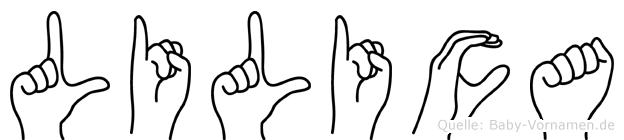 Lilica im Fingeralphabet der Deutschen Gebärdensprache
