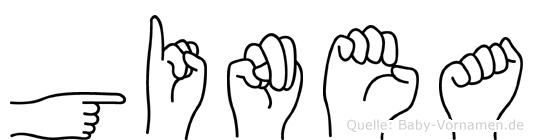 Ginea in Fingersprache für Gehörlose